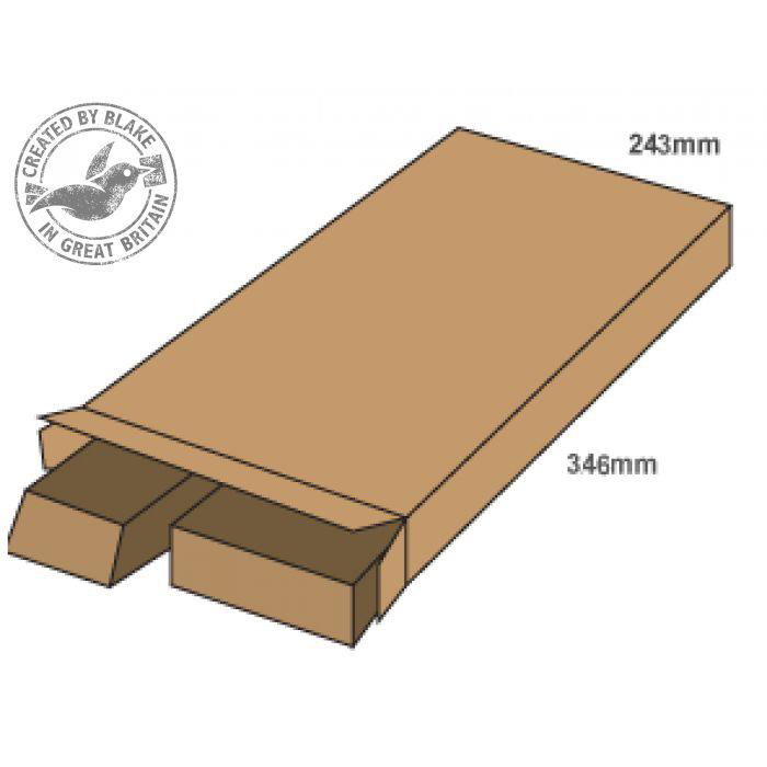 Blakes Purely Packaging Slimline Postal Box Peel & Seal WxDxH 346x243x46mm Kraft Ref PPB40 [Pack 25]