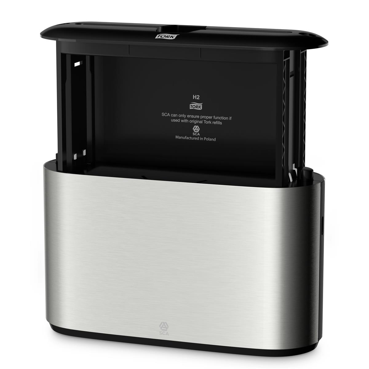 Tork Xpress Countertop Multifold Hand Towel Dispenser W323xD116xH218mm Stainless Steel Ref 460005