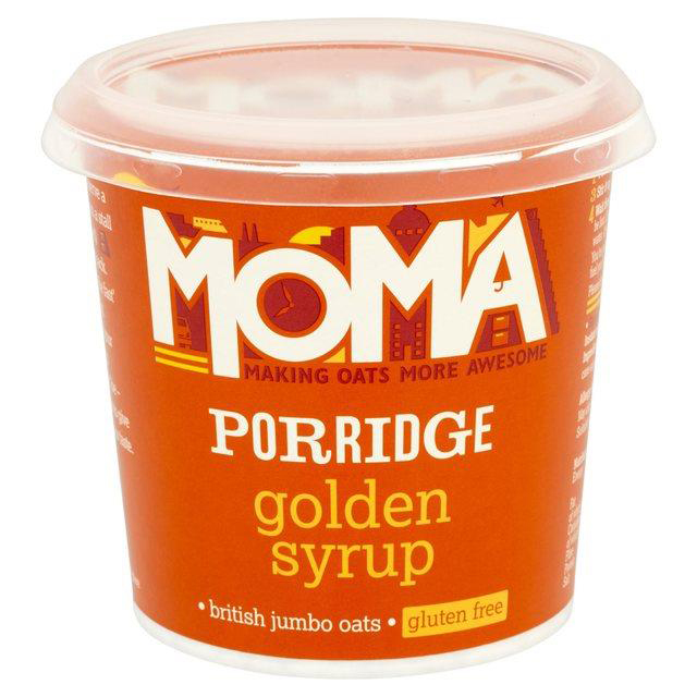 Moma Golden Syrup Porridge Pot with Raw Cane Sugar and Natural Flavours Gluten Free Ref 0499093 [Pack 12]