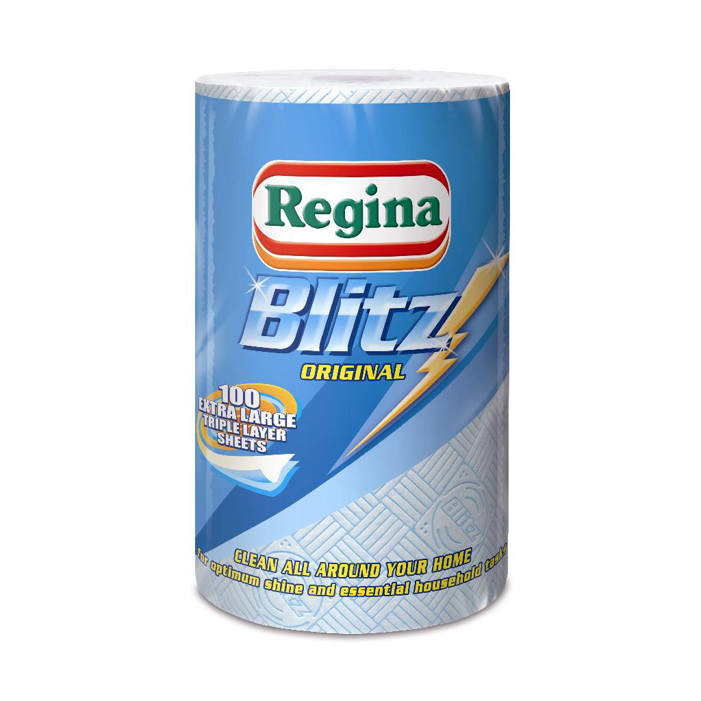 Regina Blitz Kitchen Towel No Smears Recycled Pure Pulp 70 Sheets per Roll White Ref 1105179