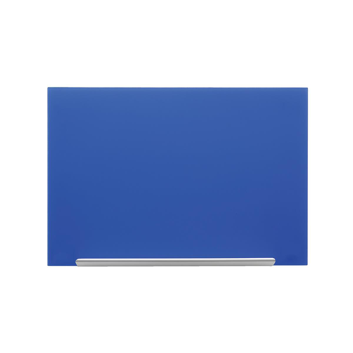 Magnetic Nobo Diamond Glass Board Magnetic Scratch Resistant Fixings Included W1900xH1000mm Blue Ref 1905190