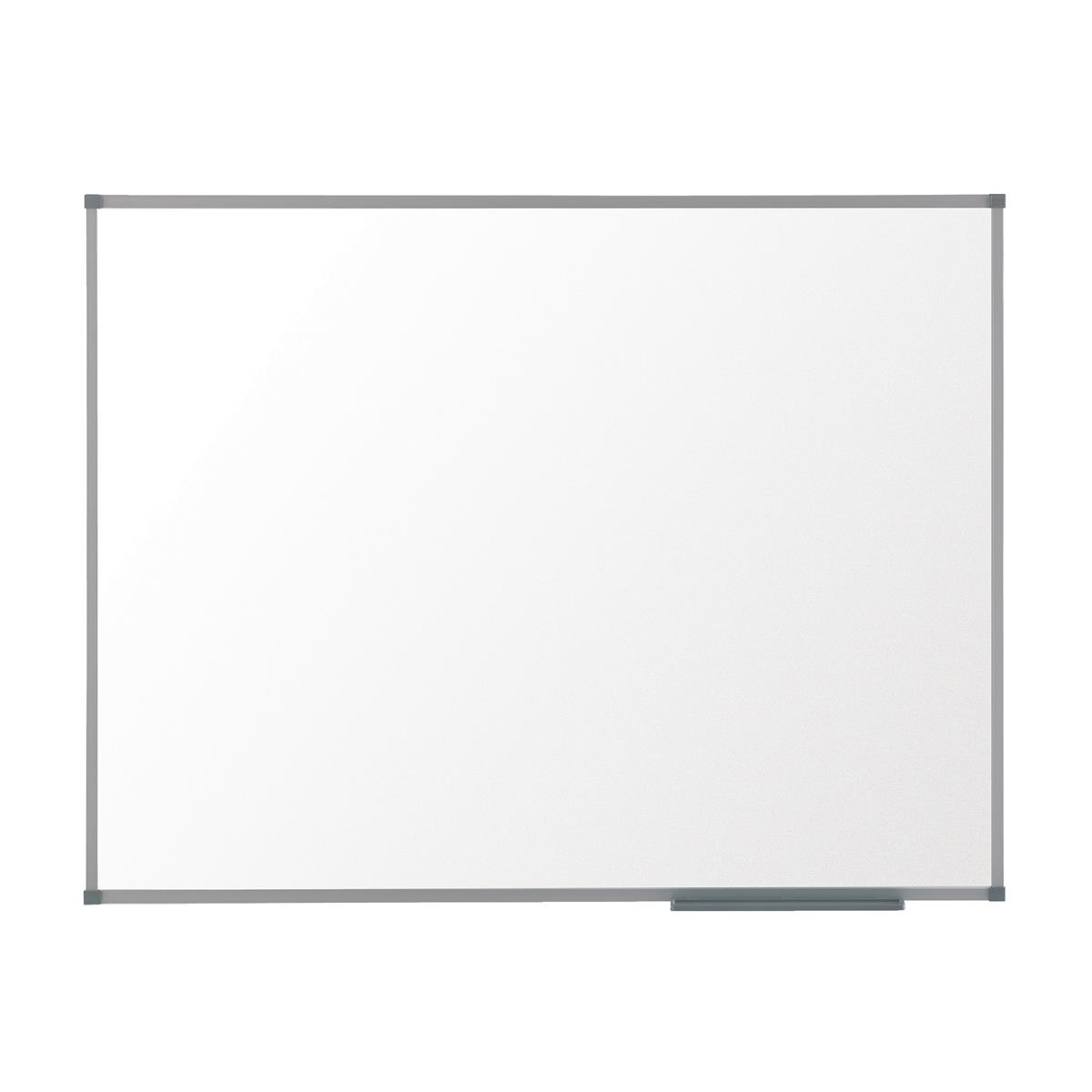 Nobo Basic Steel Whiteboard Magnetic Fixings Included W600xH450mm White/Silver Ref 1905209