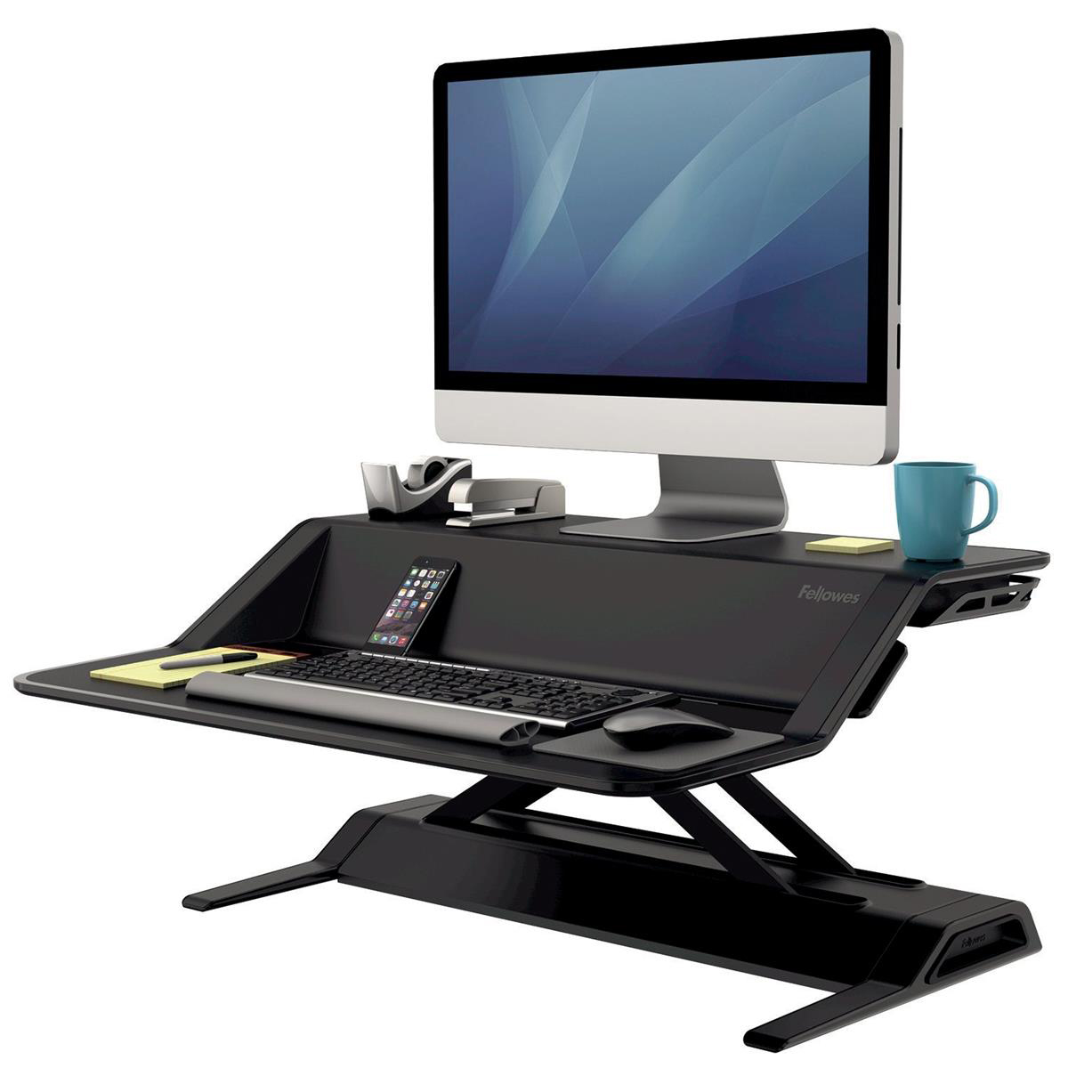 Fellowes Lotus Sit-Stand Workstation Lift Technology Black Ref 7901 REDEMPTION Oct-Dec19