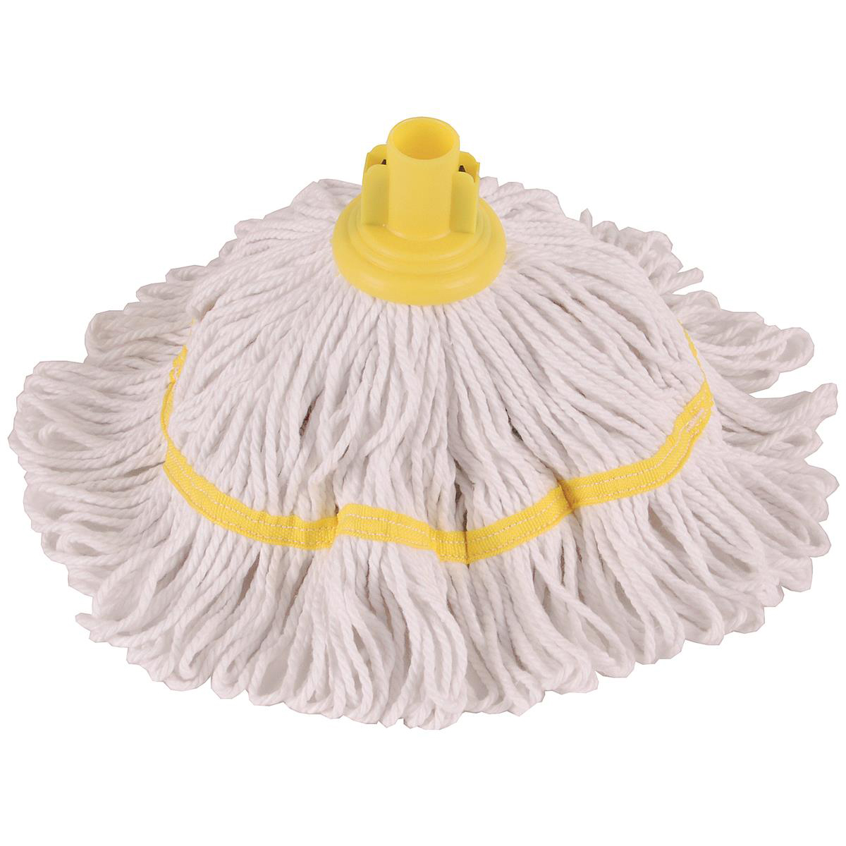 Mops & Buckets Robert Scott & Sons Hygiemix T1 Socket Cotton & Synthetic Colour-coded Mop 200g Yellow Ref MHH200Y