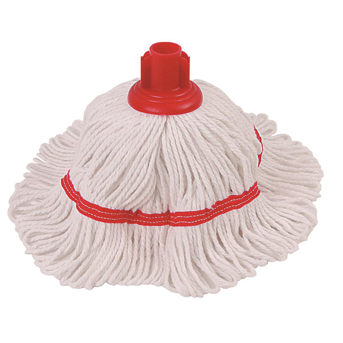 Mops & Buckets Robert Scott & Sons Hygiemix T1 Socket Cotton & Synthetic Colour-coded Mop 200g Red Ref MHH200R