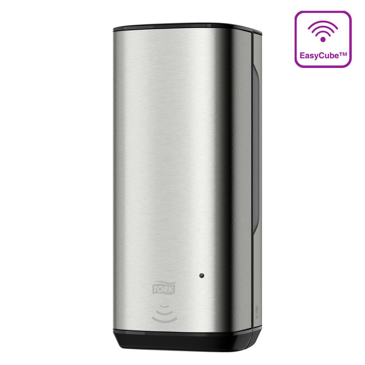 Tork Foam Soap Dispenser 1000ml Sensor-activated LED Refill Indicator S/Steel Ref 460009