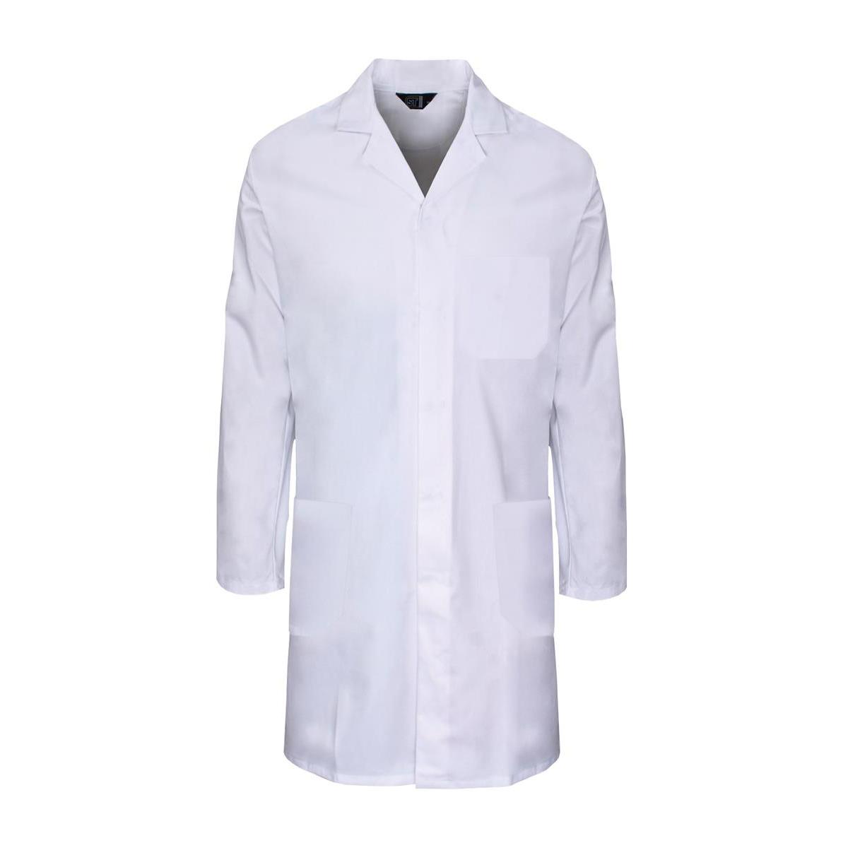 Lab Coat Polycotton with 3 Pockets XXXXLarge White Ref PCWCW54 Approx 3 Day Leadtime