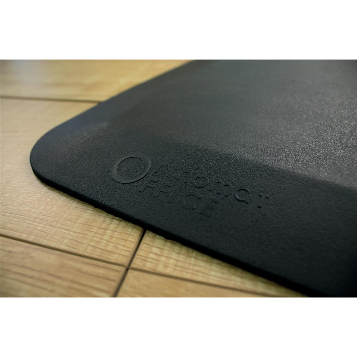 Image for COBA Orthomat Office Standing Desk Mat Anti-slip Bevelled Edge 500x800mm Black Ref OO010001