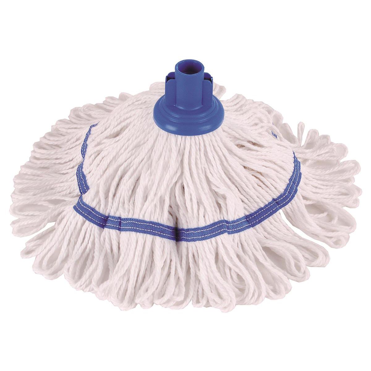 Mops & Buckets Robert Scott & Sons Hygiemix T1 Socket Cotton & Synthetic Colour-coded Mop 200g Blue Ref MHH200B