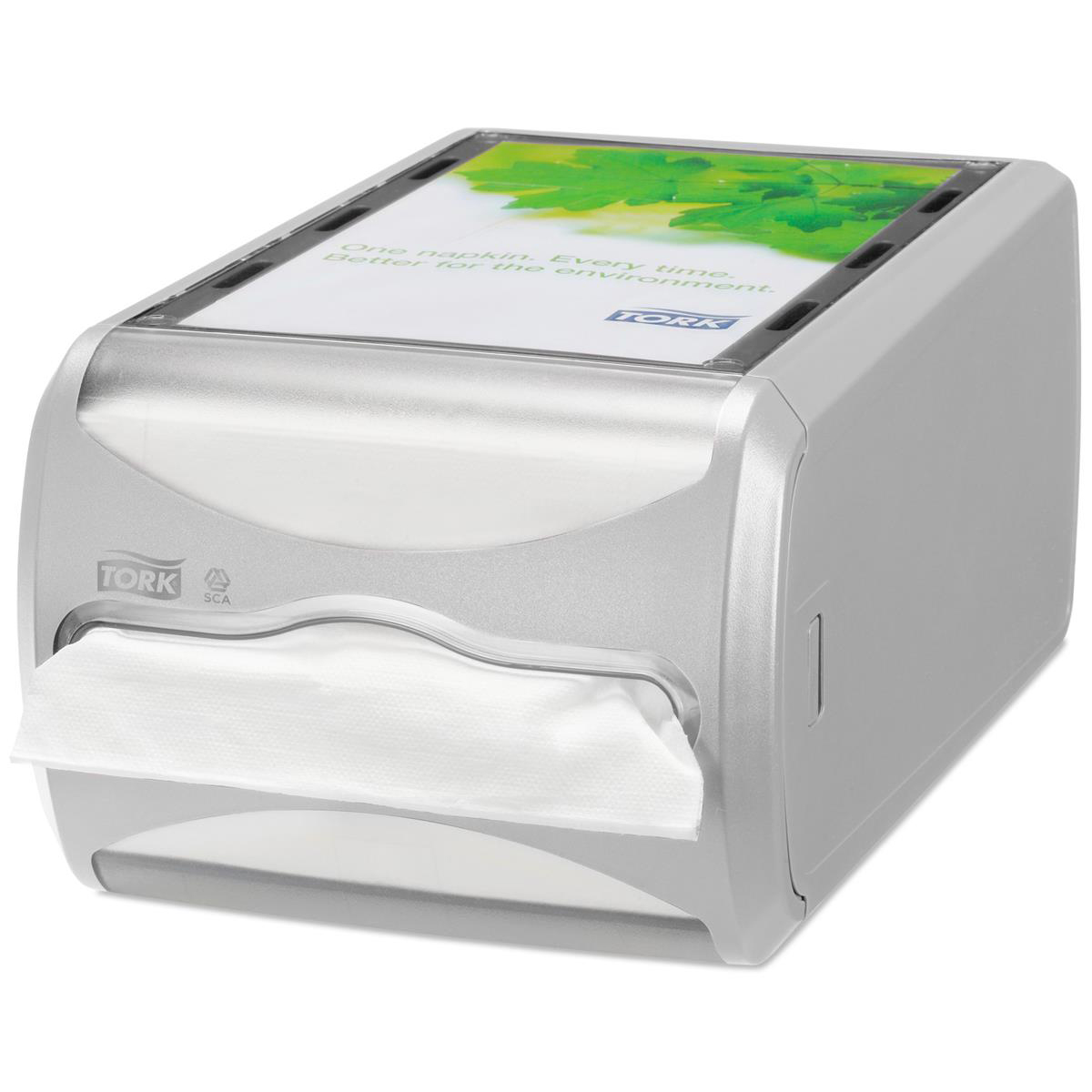 Paper towel dispensers Tork Xpressnap Counter Napkin Dispenser One-at-a-Time Grey Ref 272513