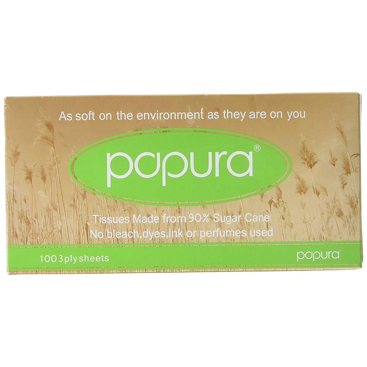 Papura Facial Tissues Box 3 Ply 100 Sheets White Ref 1514