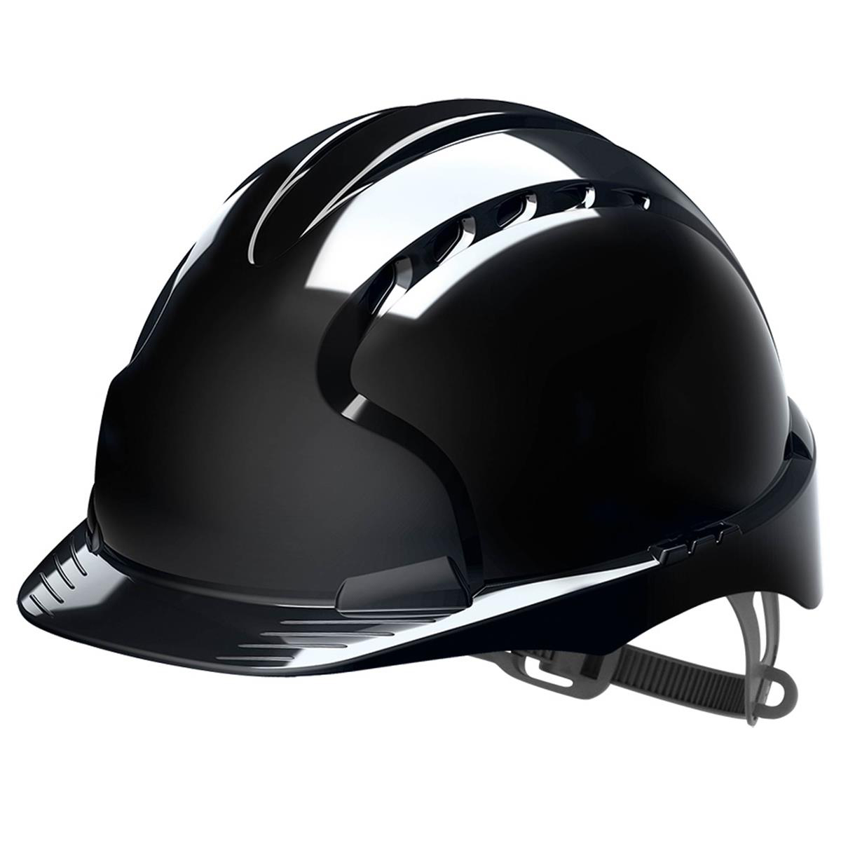 Safety helmets JSP EVO2 Safety Helmet HDPE 6-point Polyethylene Harness EN397 Standard Black Ref AJF030-001-1G1