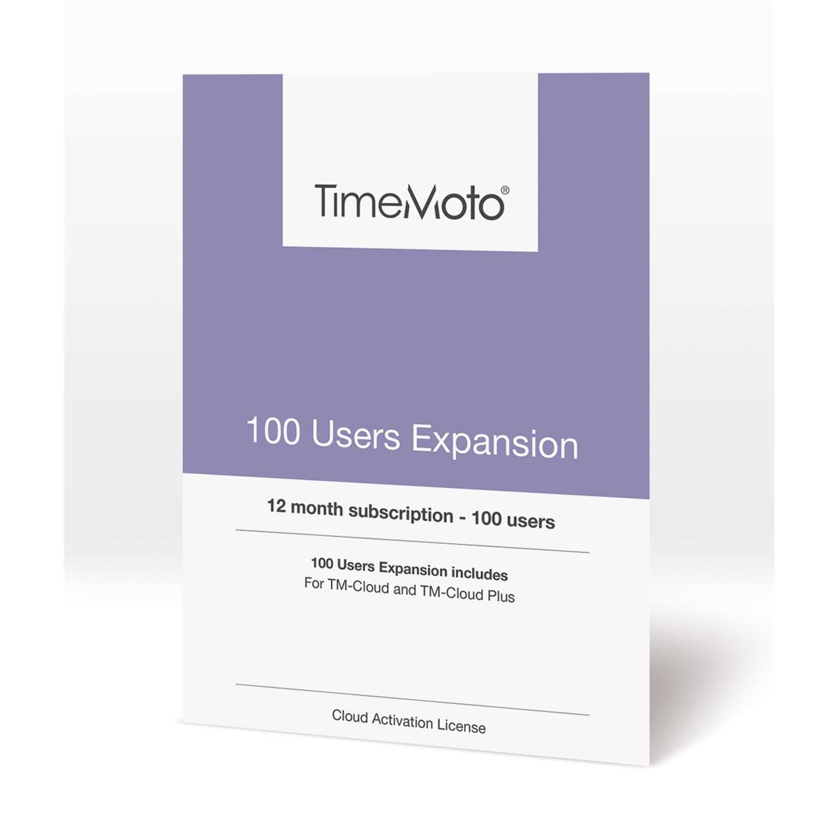 TimeMoto by Safescan TM-100 Cloud User Expansion 100 Users Ref 139-0593