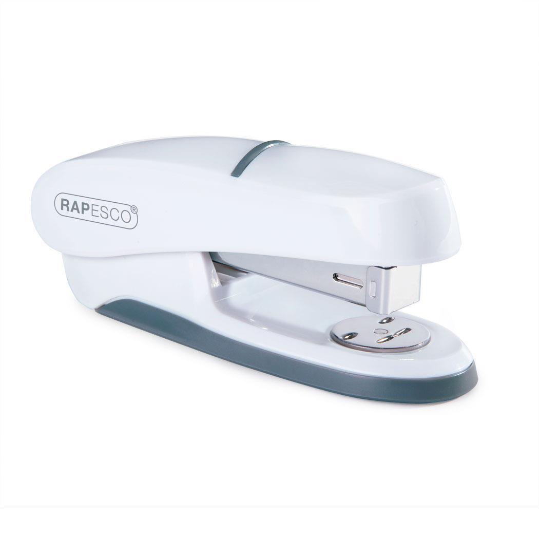 Rapesco P20 Shimma Stapler Half Strip Capacity 20 Sheets White Ref 1273