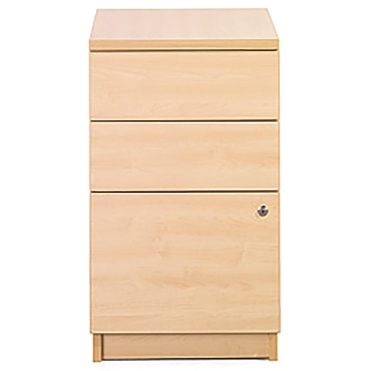 Pedestals Sonix Desk High 3 Drawer 600D Pedestal 430x600x730mm Acer Maple Ref w9681m
