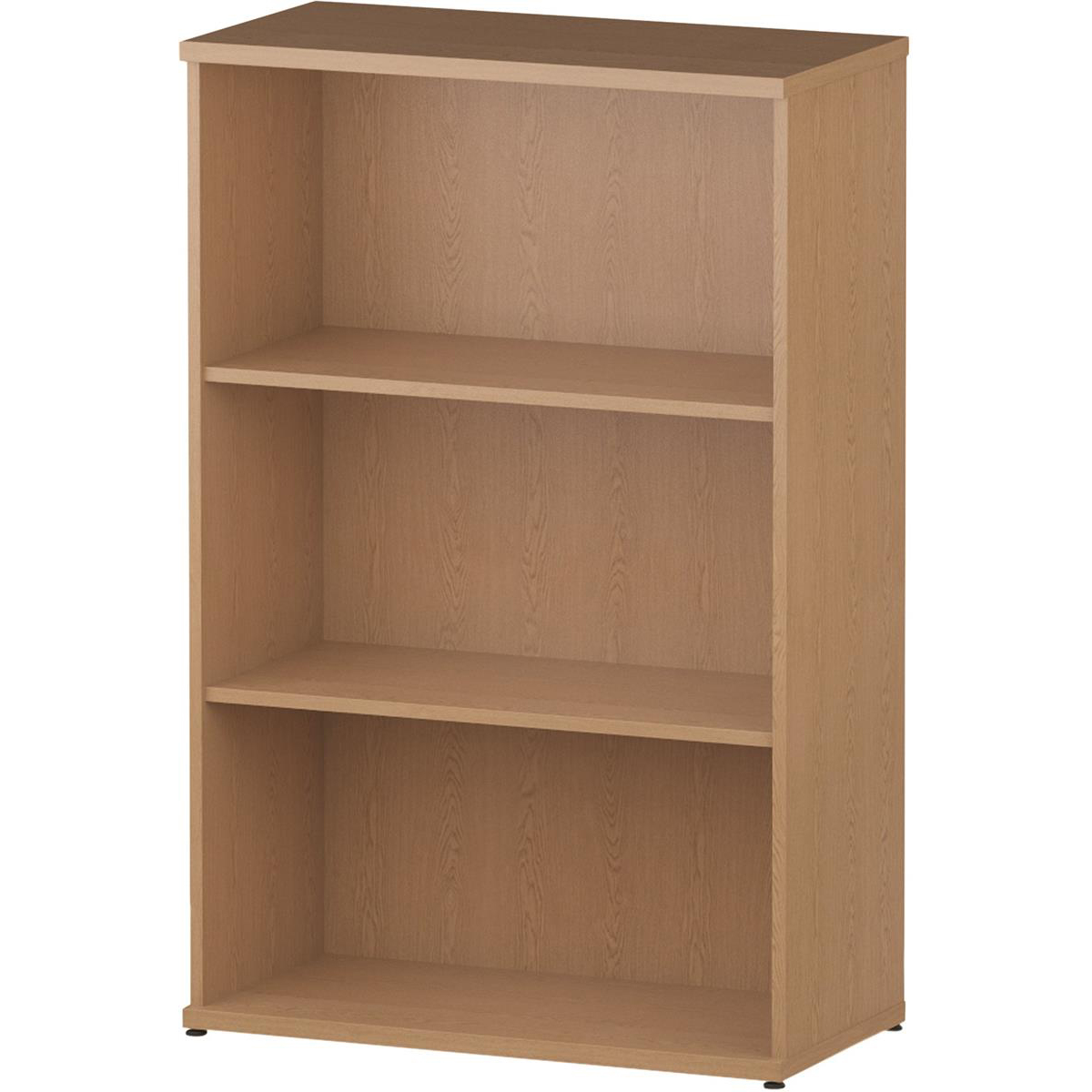 Bookcases Trexus Office Medium Bookcase 800x400x1200mm 2 Shelves Oak Ref I000758