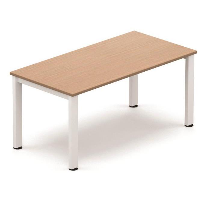 Tables Sonix Meeting Table White legs 1600x800mm Beech Ref fb1608mtbwh