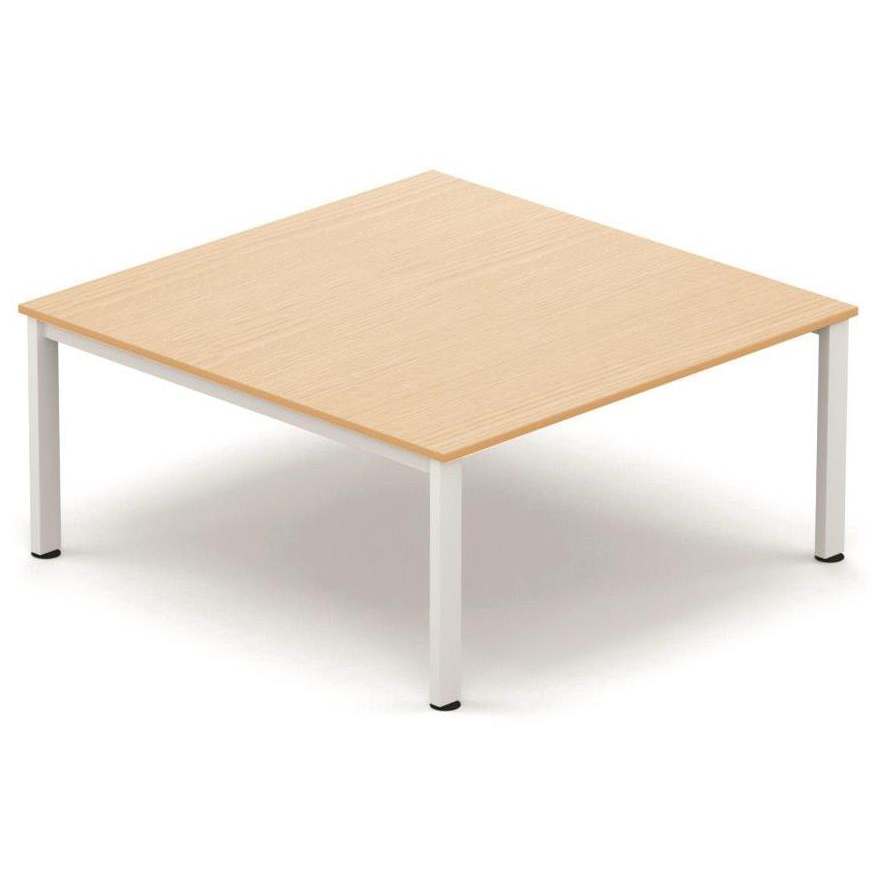 Tables Sonix Meeting Table White Legs 1600x1600mm Maple Ref fb1616mtmwh