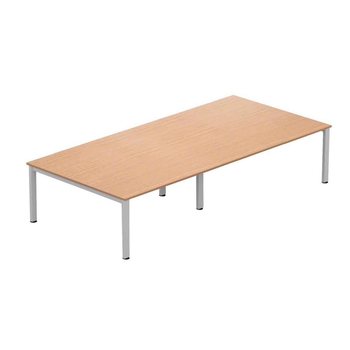 Tables Sonix Meeting Table Silver Legs 3600x1600mm Beech Ref fb3616mtb