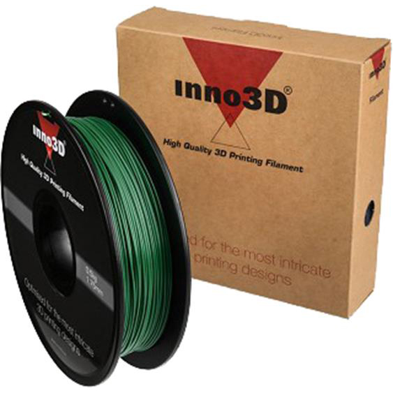 Inno3D PLA Filament for 3D Printer 1.75x200mm 0.5kg Dark Green Ref 3DPFP175SG05