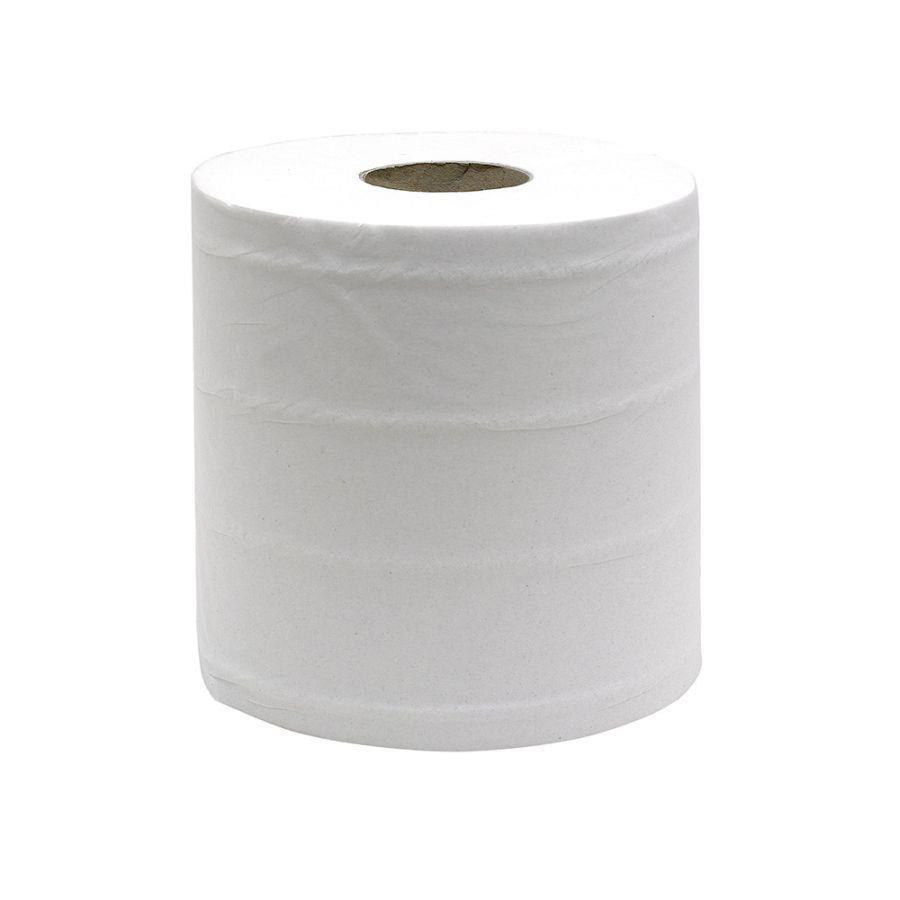 Maxima Mini Centrefeed Toilet Roll 120m White Ref 1105008 [Pack 12]