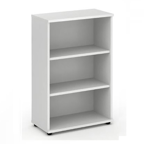Trexus Office Medium Bookcase 800x400x1200mm 2 Shelves White Ref I000170