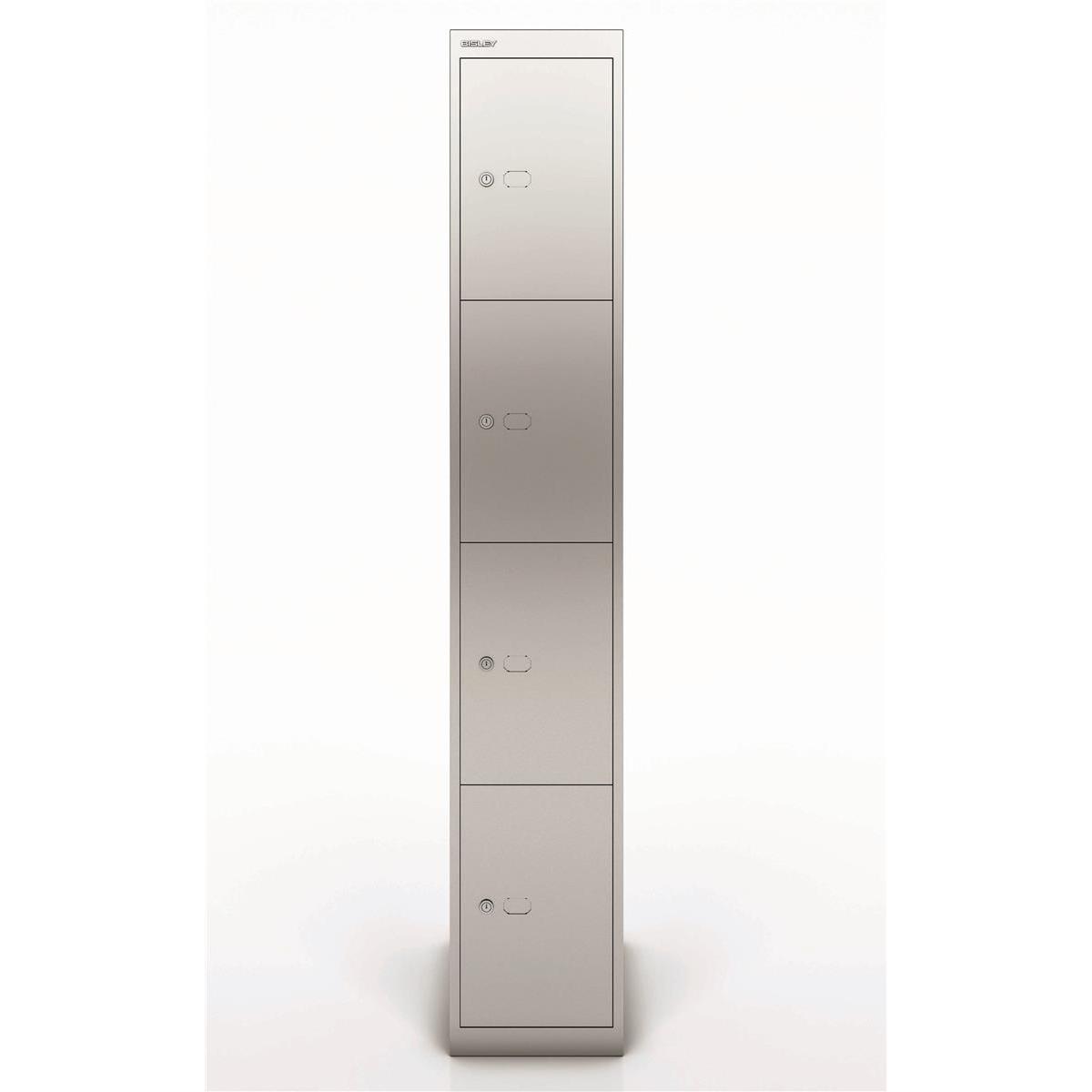Bisley Locker 4 Door Silver 457d Ref CLK184-arn