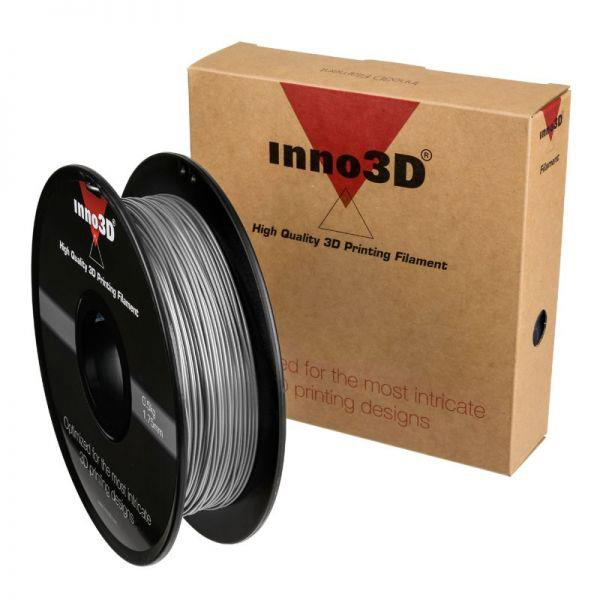 Inno3D PLA Filament for 3D Printer 1.75x200mm 0.5kg Silver Ref 3DPFP175SL05