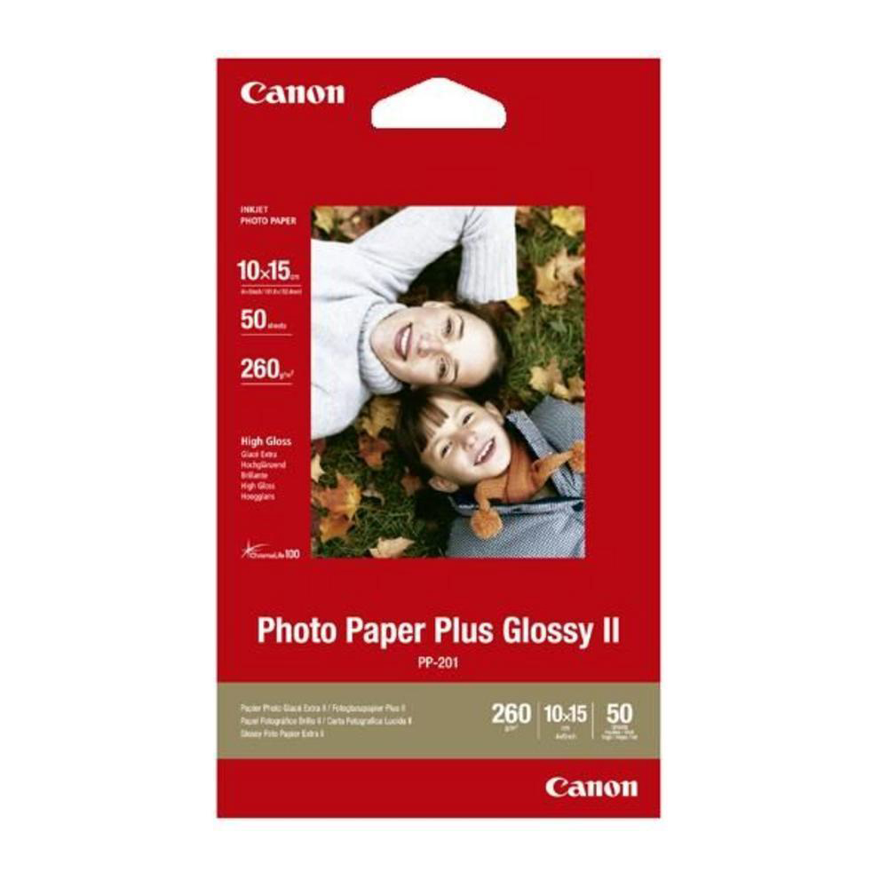 Canon PP201 Photo Inkjet Paper Glossy II 265gsm 100 x 150mm Ref 2311B003AA 50 Sheets