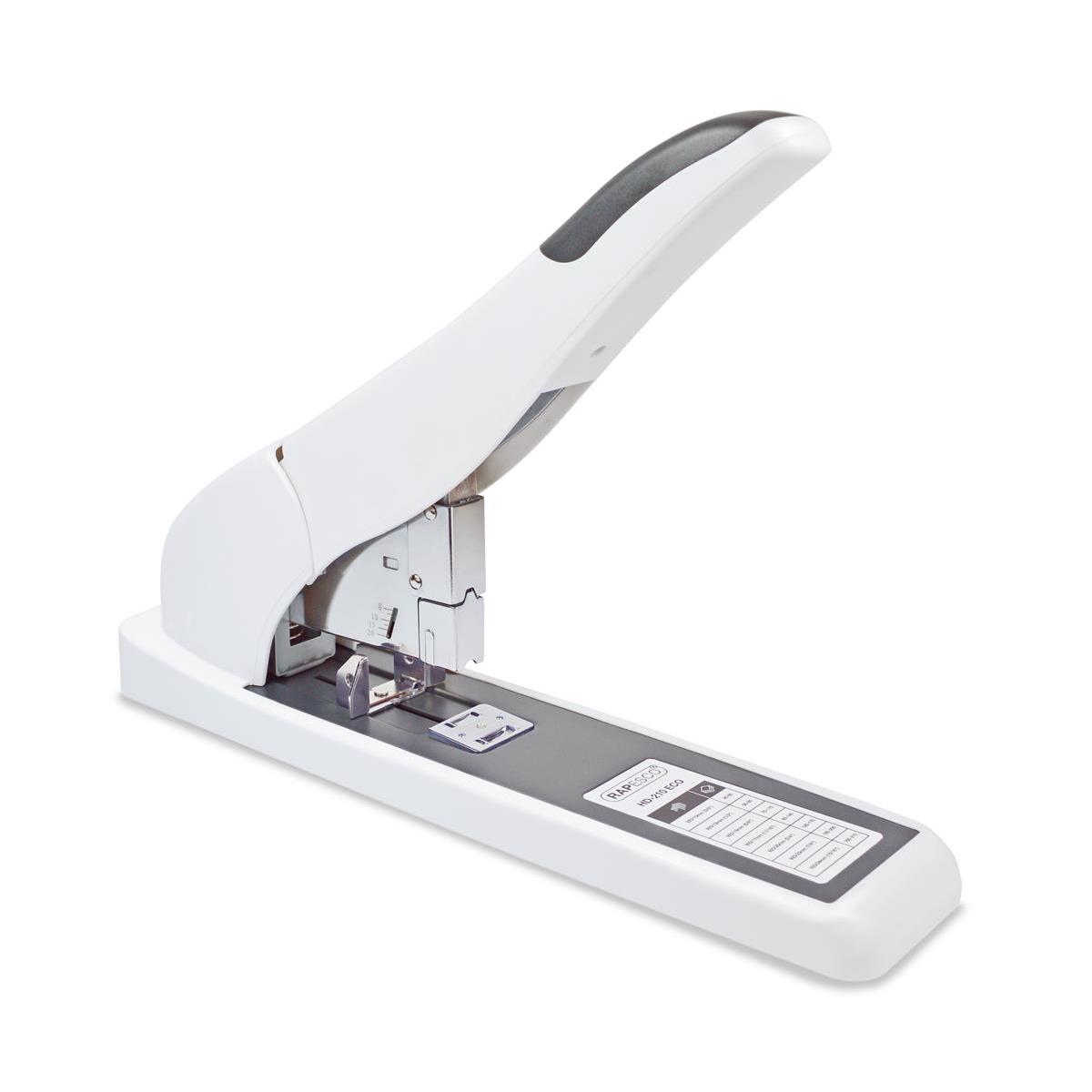Rapesco ECO 210 Heavy Duty Full Strip Stapler Capacity 210 Sheets White Ref 1397