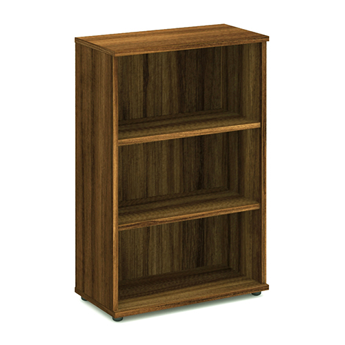 Bookcases Trexus Office Medium Bookcase 800x400x1200mm 2 Shelves Walnut Ref I000110