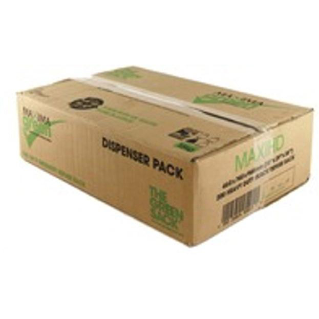 The Green Sack Refuse Sacks Heavy Duty 15kg Capacity Black Ref 703094 Pack 200