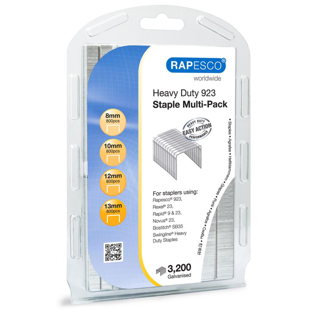 Rapesco 923 Galvanized Staples Multi-pack Rapesco 923 Multipack Pack Ref 1246