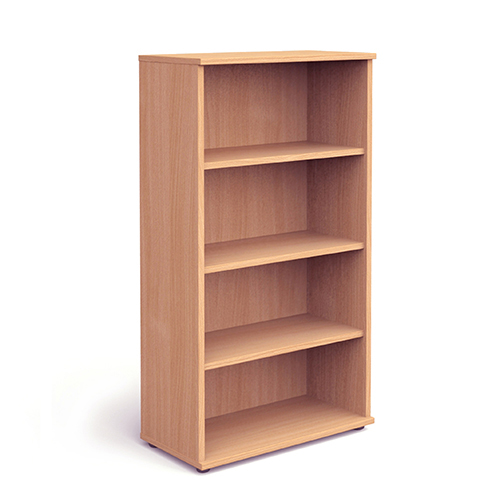 Image for Trexus Office High Bookcase 800x400x1600mm 3 Shelves Beech Ref I000051
