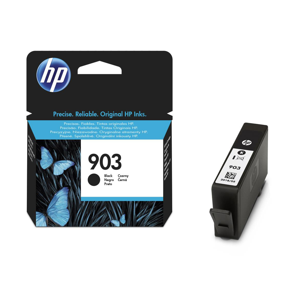 Hewlett Packard [HP] No.903 Original Ink Cartridge 300pages Black Ref T6L99AE