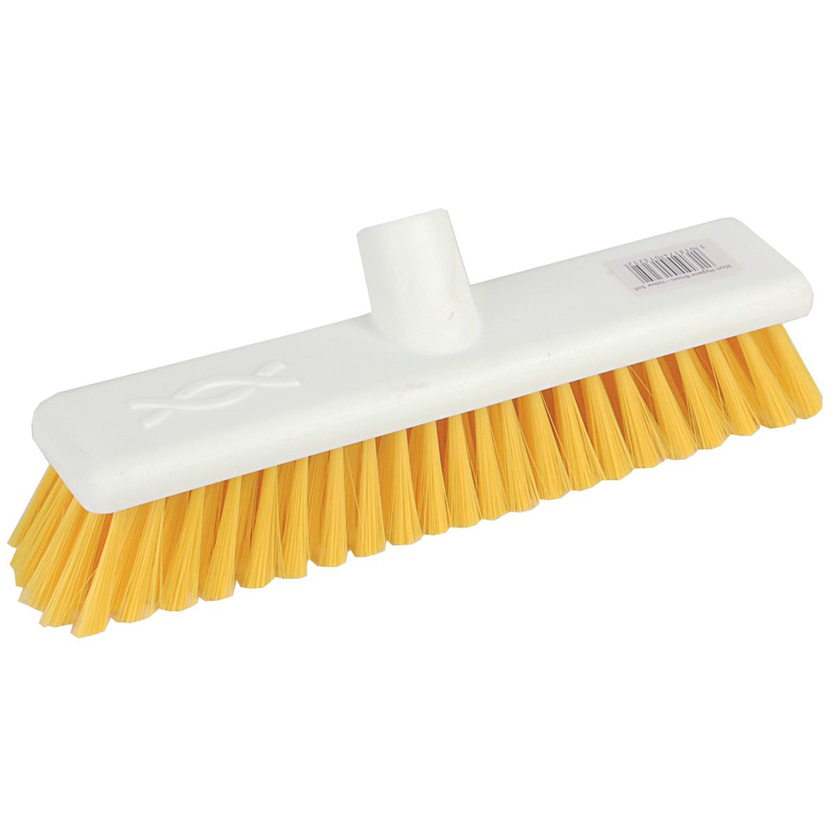 Broom heads Robert Scott & Sons Abbey Hygiene Broom 12inch Washable Soft Broom Head Yellow Ref BHYRS12SY