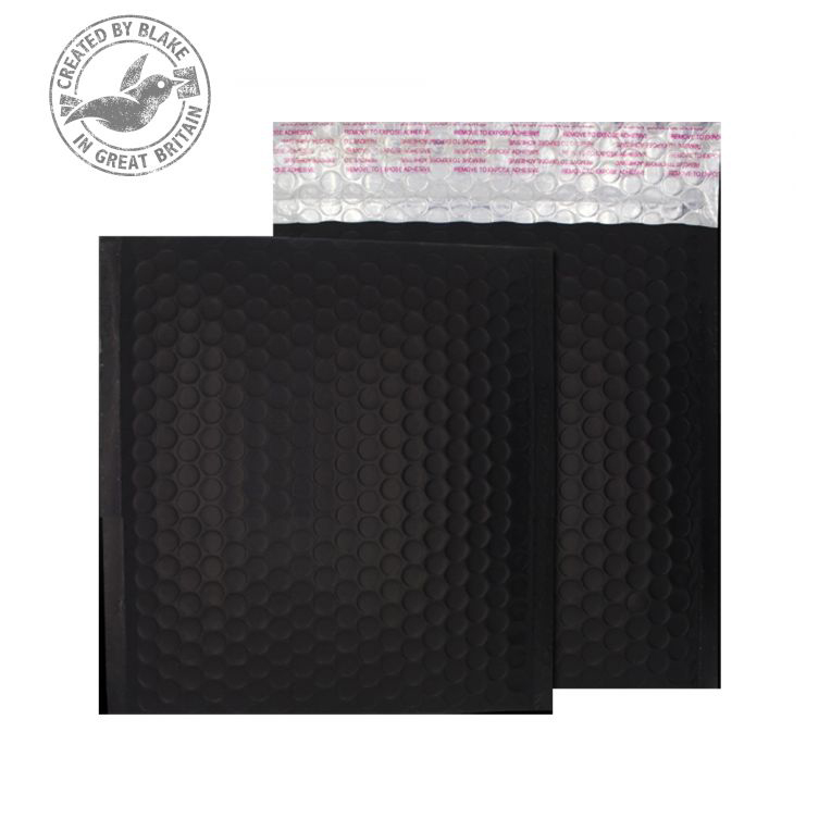 Purely Packaging Bubble Envelope P&S CD Matt Metallic Charcoal Ref MTB450 Pk100 *10 Day Leadtime*