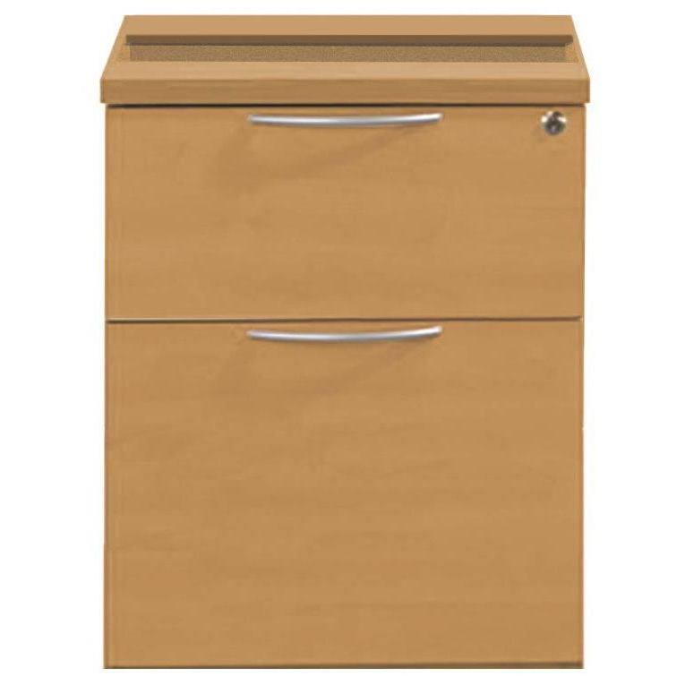 Sonix 2 Drawer Fixed Pedestal 430x565x490mm Rich Beech Ref w9147b