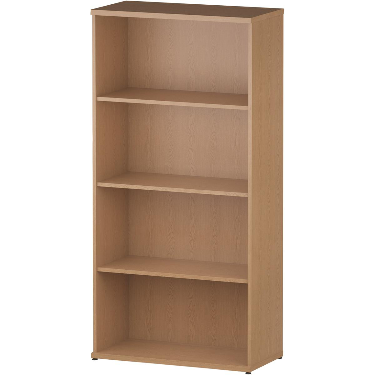 Trexus Office High Bookcase 800x400x1600mm 3 Shelves Oak Ref I000759