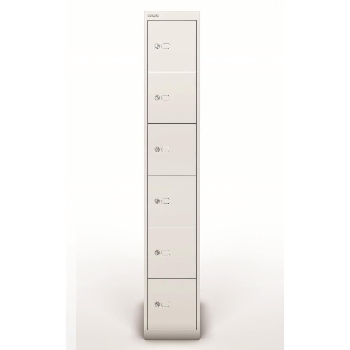 Lockers Bisley Locker 6 Door White 457d Ref CLK186-ab9