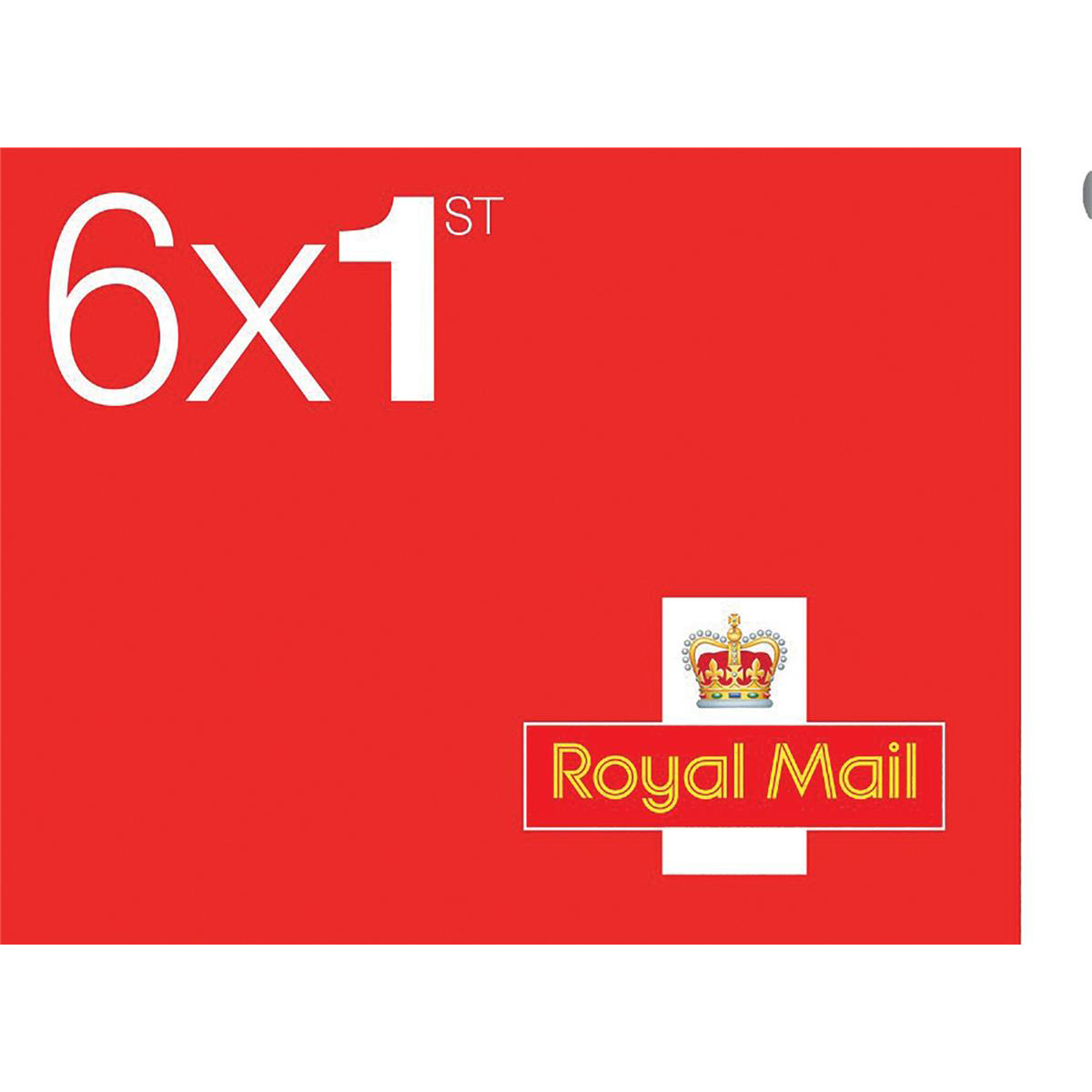 Stamps Royal Mail First Class Stamps 50 x Book of 6