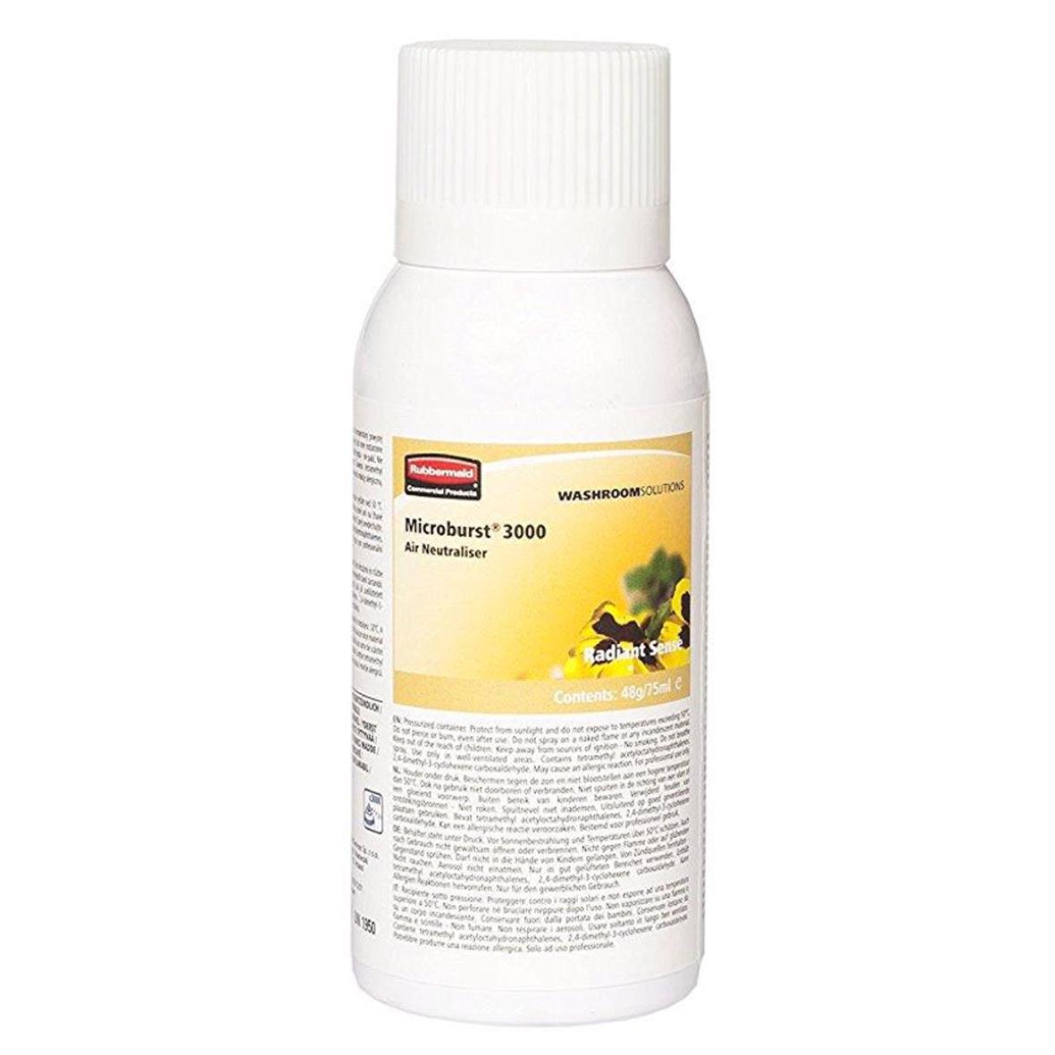 Rubbermaid Microburst Air Freshener Refill 75ml Radiant Sense Ref R0260040 [Pack 12]