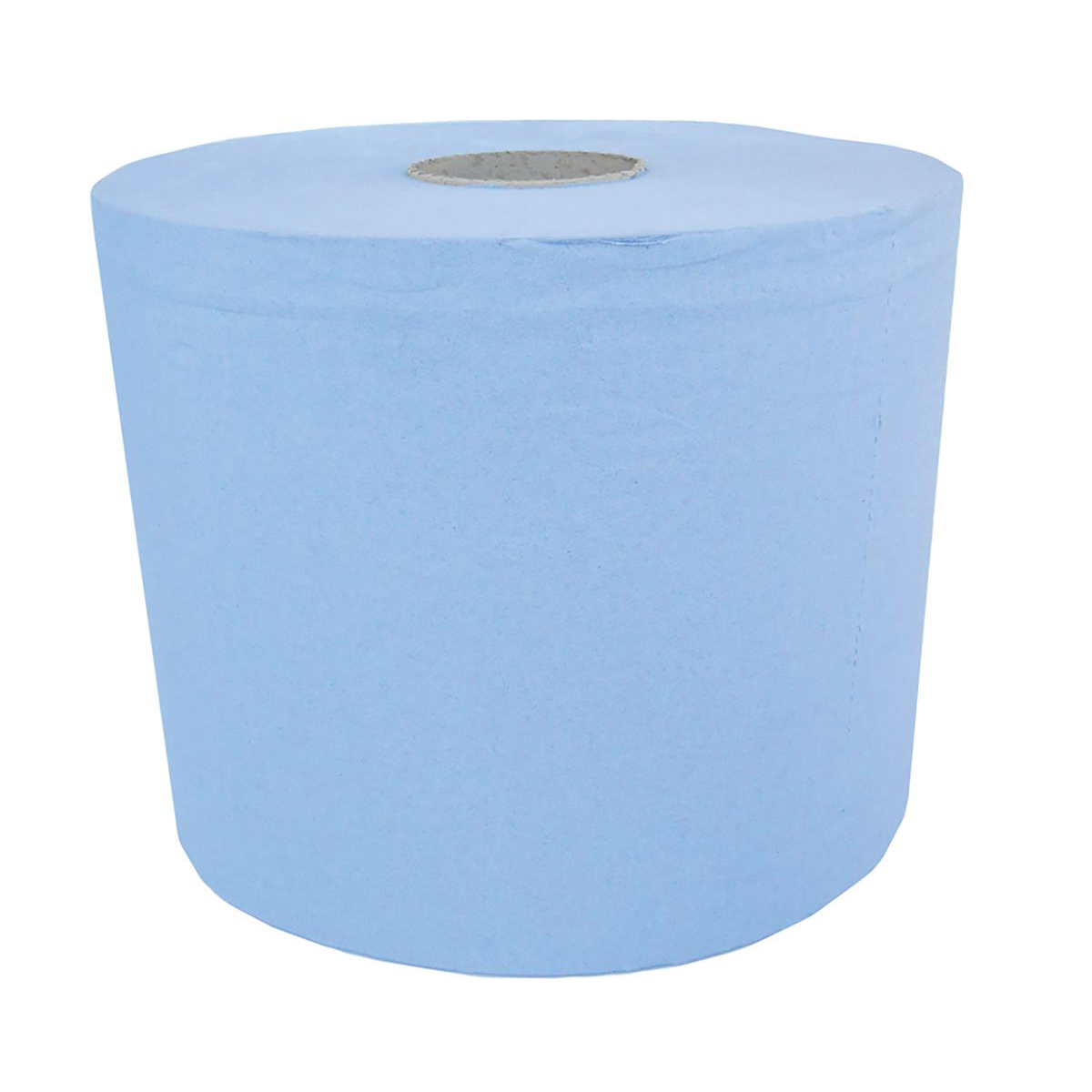 Hand Towels & Dispensers Maxima Centrefeed Roll 3-Ply 180mmx130m Blue Ref 1105186 Pack 6