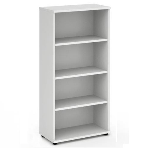 Trexus Office High Bookcase 800x400x1600mm 3 Shelves White Ref I000171