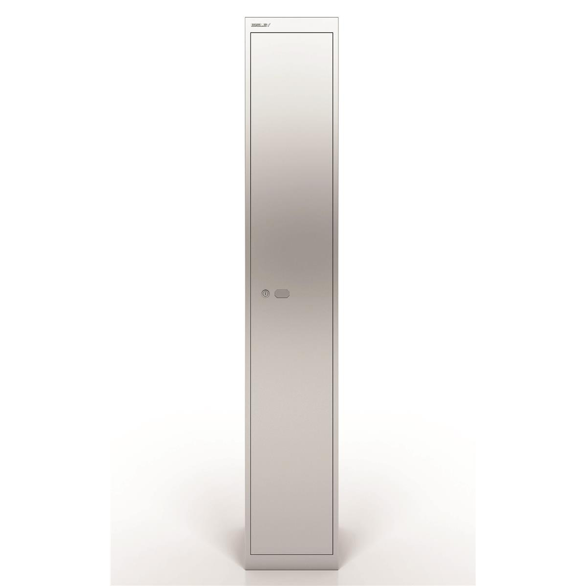 Lockers Bisley Locker 1 Door Silver 305d Ref CLK121-arn