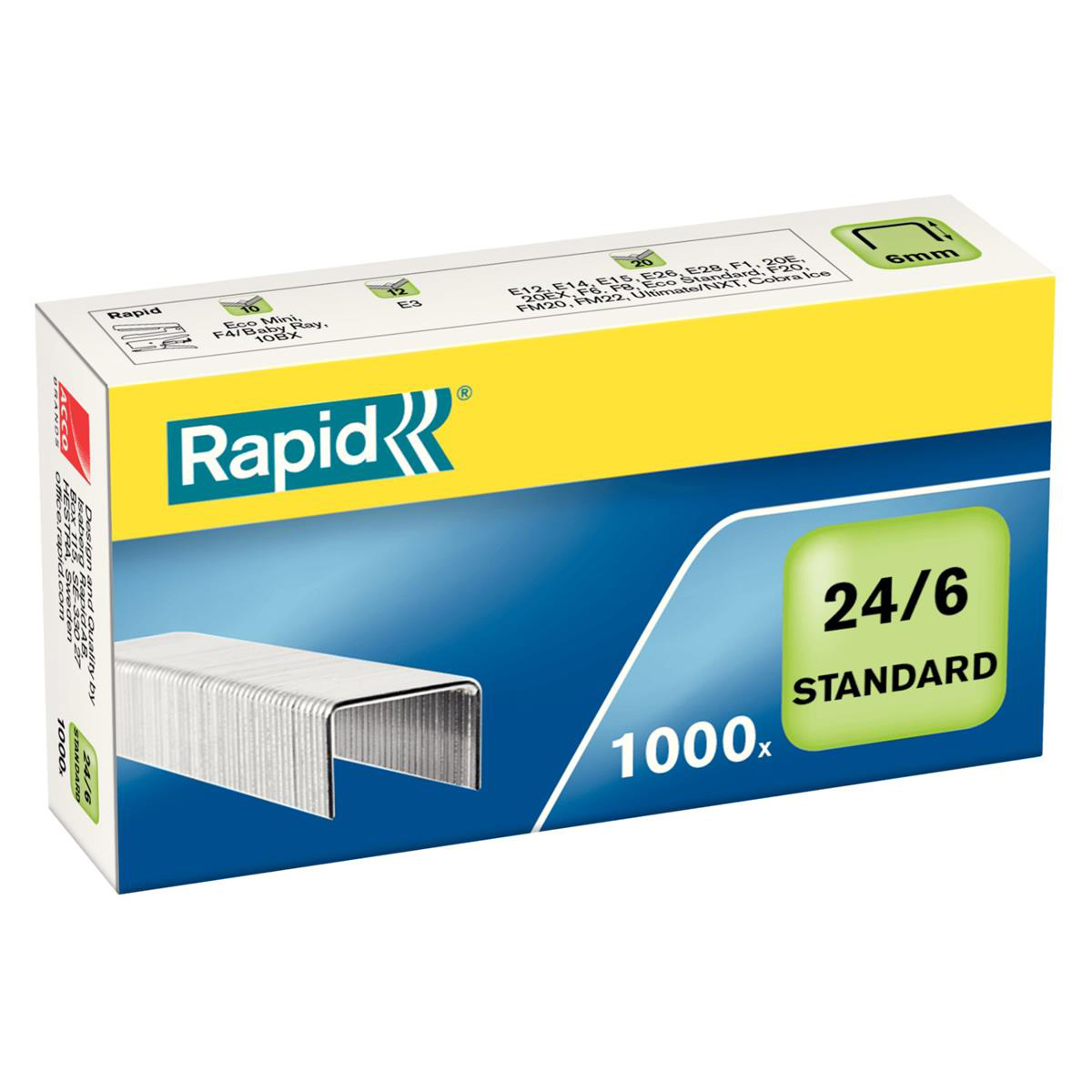Rapid Staples 24/6mm Pack 1000 Ref 24855600
