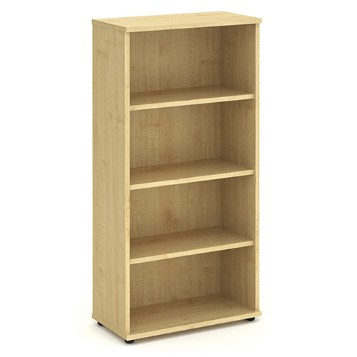 Bookcases Trexus Office High Bookcase 800x400x1600mm 3 Shelves Maple Ref I000231