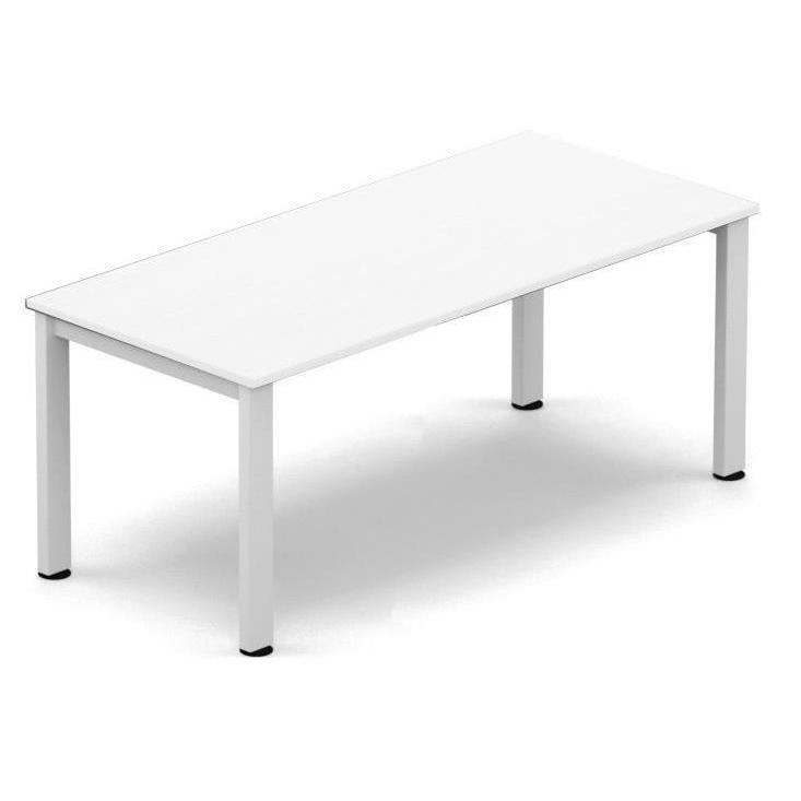 Sonix Meeting Table White legs 1800x800mm White Ref fb1808mtwhwh