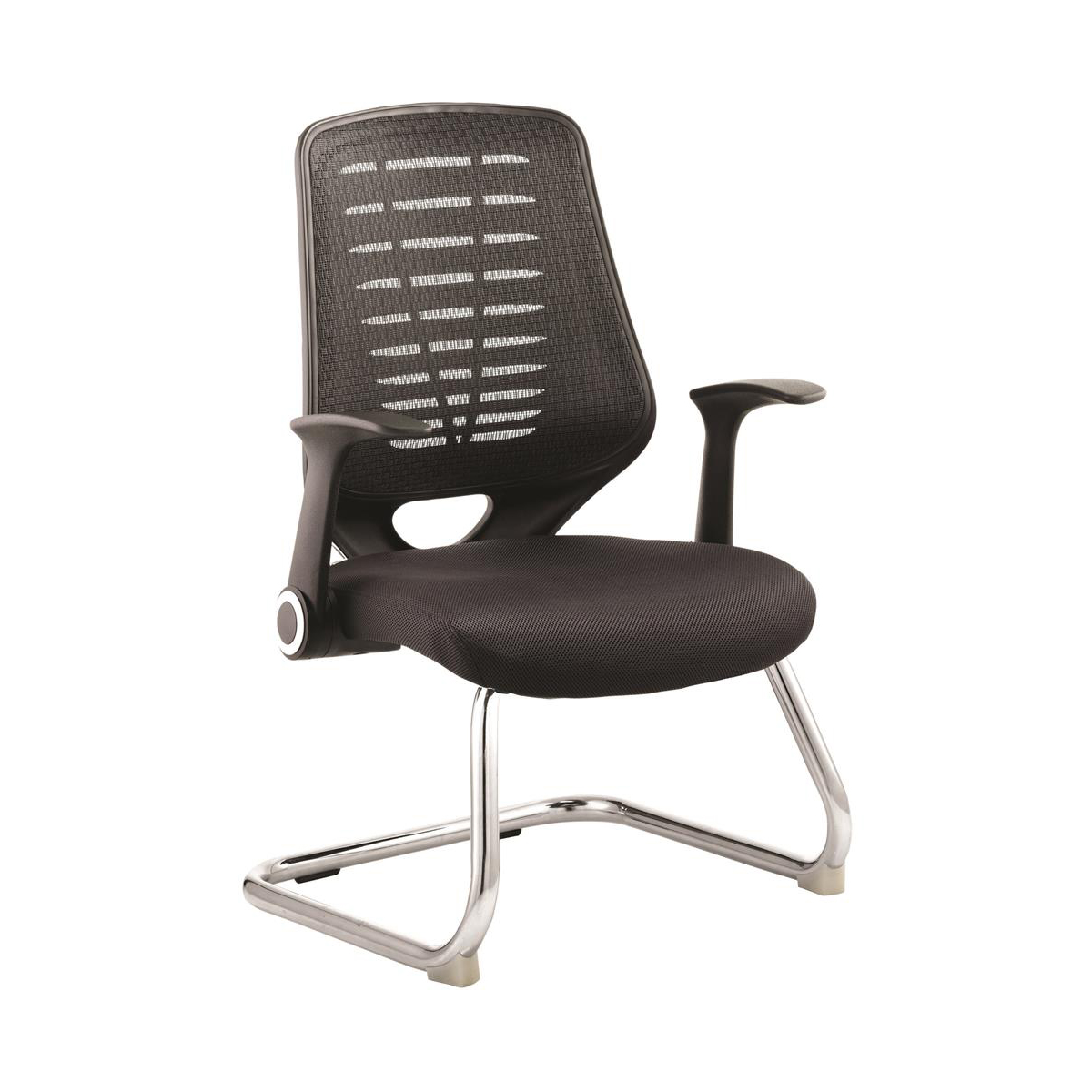Sonix Relay Mesh Visitors Chair Black 500x490x440mm Ref BR000117