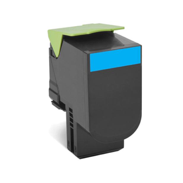 Lexmark 702XC Laser TonerCartridge Return Programme Extra High Yield Page Life 4000pp Cyan Ref 70C2XC0